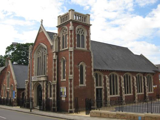 The current church building
