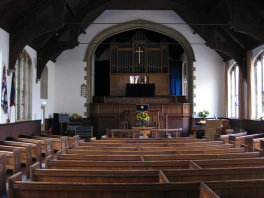 The worship area of the church