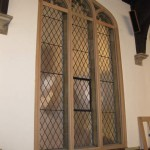 New window frame on the inside for secondary glazing