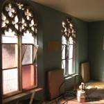 New paintwork and radiators in the (former) lower classroom