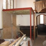 Framework for new inside porch area