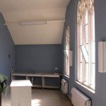 New radiators and paintwork in the upper classroom