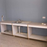 New sink in the upper classroom