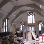 The church hall without the scaffolding