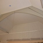 Soundproofing detail in the hall ceiling and walls