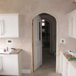 The door from the kitchen to the servery